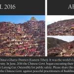Images of Tibet's Larung Gar demolition, April 2016 – April 2017