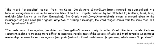 Etymology of the word evangelical