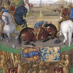 The Conversion of St. Paul, Jean Fouquet, in the Hours of  Étienne Chevalier, ca. 1450s