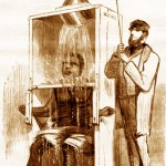 "An 1858 Harper's illustration of a freezing ""shower"""