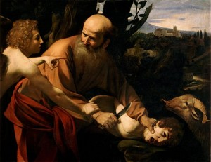 Caravaggio, Sacrifice of Isaac (ca. 1598)