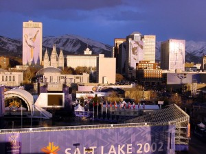 Salt Lake City during the 2002 Winter Olympics