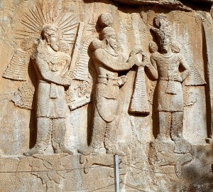 Relief of Shapur II trampling Julian the Apostate