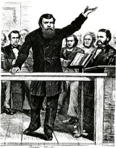 Dwight L. Moody preaching