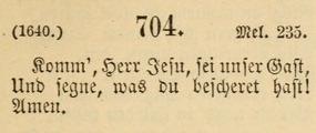"""""""Komm, Herr Jesu"""" in 1891 Moravian hymnal"""