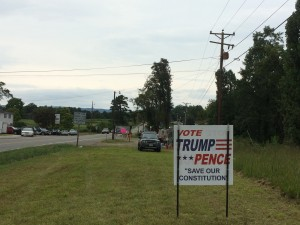 Trump-Pence sign in Cana, Virginia
