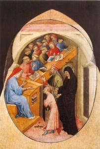 Monica Takes Augustine to School, Niccolò di Pietro, ca. 1415