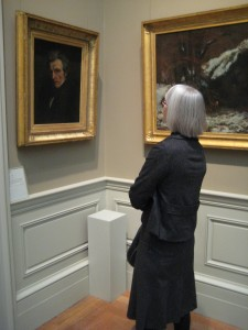 Catherine Prescott (in 19th c. wing) at the Metropolitan Museum of Art