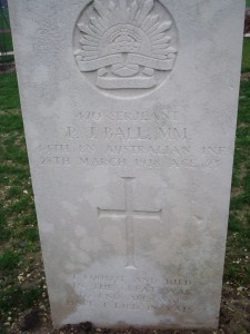 "Australian headstone inscribed ""I fought and died in the Great War to end all wars. Have I died in vain?"""