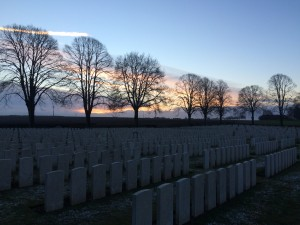 Delville Wood cemetery at dawn