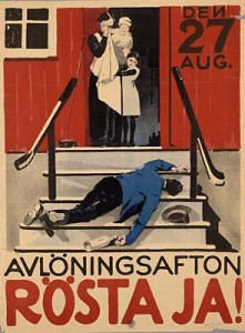 Pro-Prohibition poster from Sweden, 1922