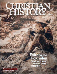 Cover of Christian History Magazine issue on Christians and the two world wars