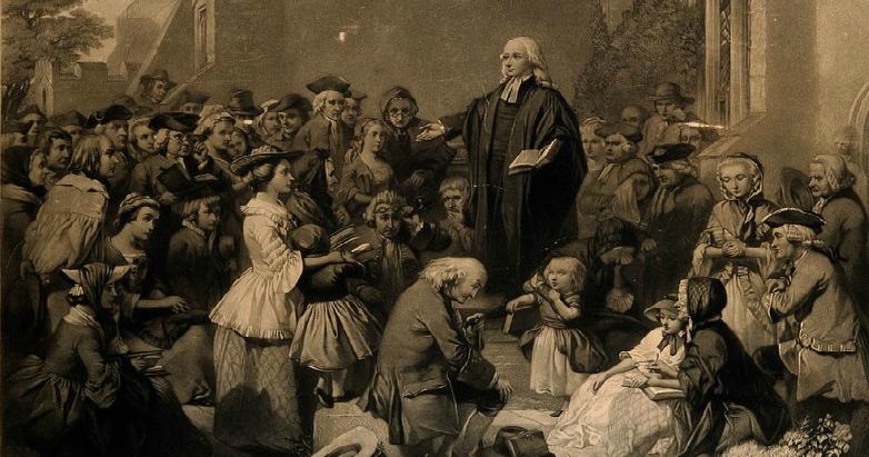 John Wesley preaching outdoors