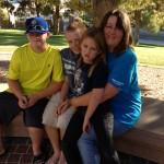 Shem (11), Todd (13), Geneva (7), and Lyndee