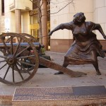 Mrs. Eberly and her cannon : Austin, Texas