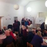 Community members celebrating the Big Lottery Grant.
