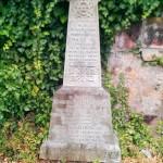 A grave marker in Dalkeith, Scotland