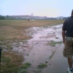 Flooding at the Capitol Mall due to a broken irrigation pipe 2006