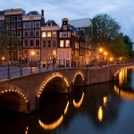Image of an Amsterdam canal From Wikipedia. Click for original.
