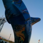 Orca Scultpture in New Westminster, BC, Canada