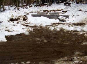 Mud season in Maine.