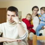 Family with two children having quarrel at home