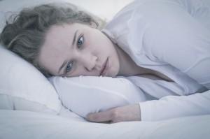 Sad tired woman