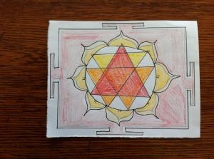 I drew Kali yantras a while ago.