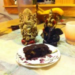 Ganesh with brownie.
