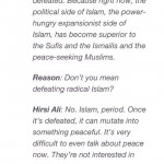 Ayaan Hirsi Ali says Islam must be defeated - not just radical Islam, all of Islam