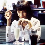 Uma Thurman in a scene from PULP FICTION, 1994.