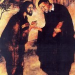 Vincent de Paul and beggar Christ