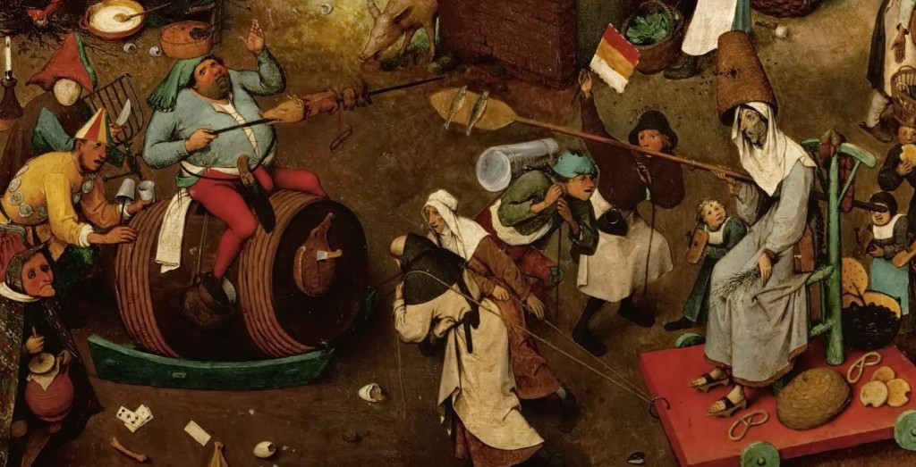 The Fight Between Carnival and Lent by Pieter Bruegel. CC Wikimedia.