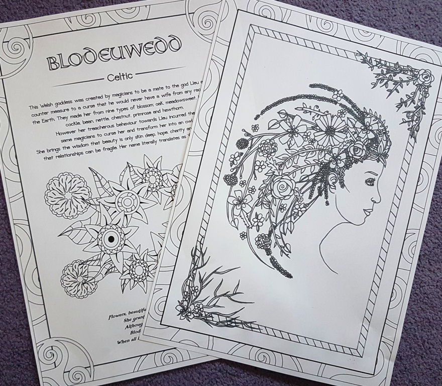 The Goddess Blodeuwedd