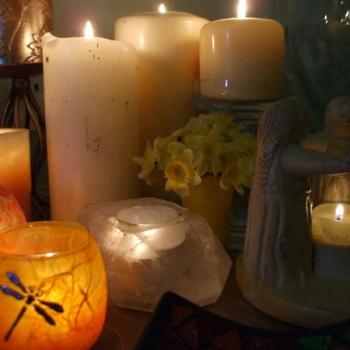A Kitchen Witch's Imbolc: Candles and potato spells