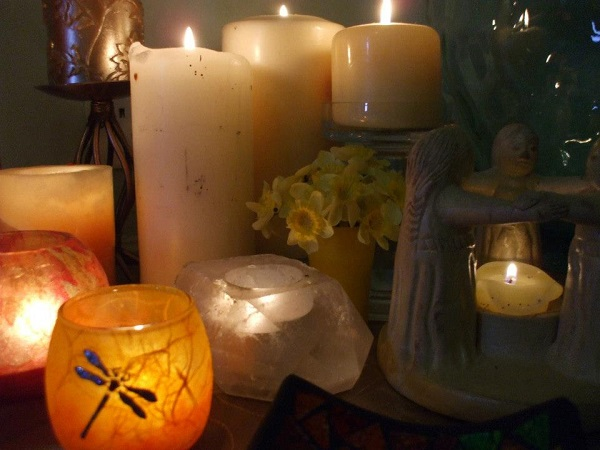Imbolc candles kitchen witch rachel patterson