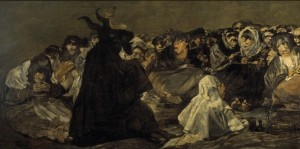 Francisco dem Goya y Lucientes - Witches' Sabbath (The Great He-Goat) 1798. Source: Wikimedia Commons.