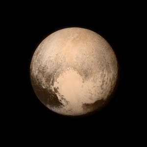 The closest ever image of Pluto, taken from the New Horizons spacecraft on its flyby last night.  Courtesy of NASA (public domain image).