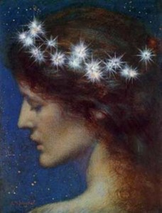 "'Night"" by Edward Robert Hughes.  Public domain image."