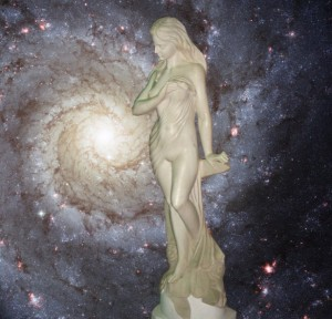 """The Star Goddess"" by Sable Aradia (photo manipulation of public domain images).  Copyright (c) 2015.  All rights reserved."