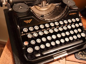 Old Typewriter by Petr Kratochvil. Public domain image courtesy of Publicdomainpictures.net.
