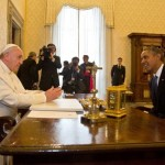 Pope Francis meets President Barack Obama at the Vatican on Thursday, March 27. (Getty)
