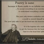 Poetry is Sane - GK Chesterton