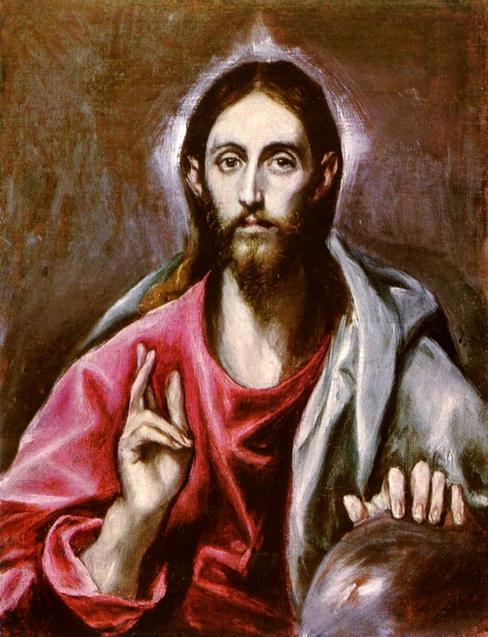 El_Greco, 1600, Pantocrator - Christ. National Gallery of Scotland, Edinburgh Vanderbilt