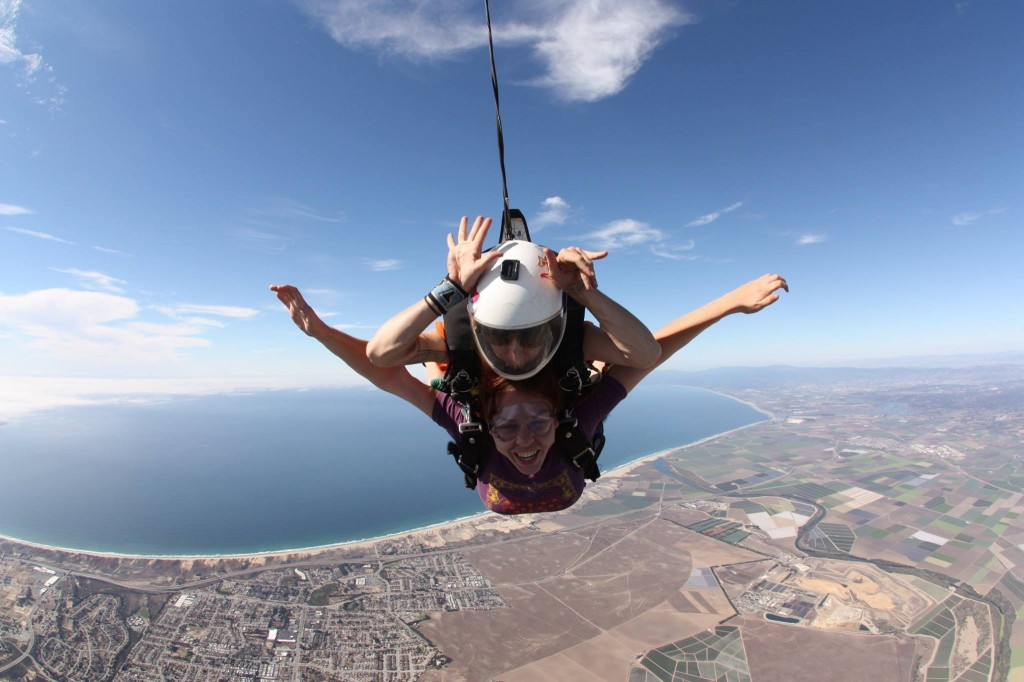Soaring - literally. The prophecy offered a great excuse to go skydiving.