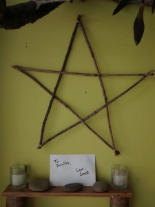 My prophetic card sitting on my altar.