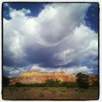 Skies above Ghost Ranch
