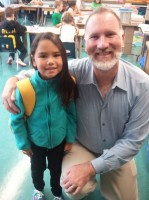 My youngest daughter and her 2nd grade teacher, Mr. M.