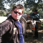 Tristan and Justice the Longhorn on Texas Independence Day
