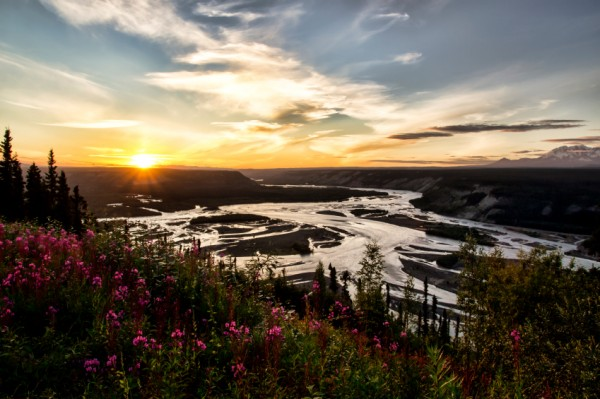 Copper River at Sunset